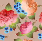 Vintage russian floral pattern vector Stock Photo