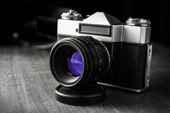 Vintage Russian photo camera Royalty Free Stock Photography