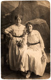 Vintage Russian sisters. Stock Image