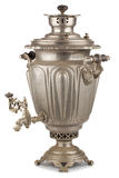 Vintage russian tea samovar Stock Photo