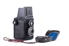Vintage Russian TLR camera Stock Photo