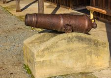 Vintage Rusted Canon Stock Photography