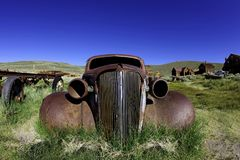 Vintage Rusted Old Car in Bodie California Royalty Free Stock Photos