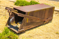 Vintage Rusted Ore Cart Carrier. Used On Tracks In A Mining Operation royalty free stock photo
