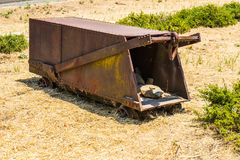 Vintage Rusted Ore Cart. Vintage Rusted Mining Ore Cart Carrier royalty free stock photography