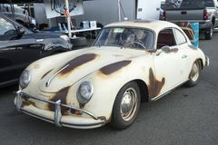 Vintage rusted porsche in display Royalty Free Stock Photos