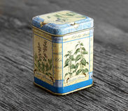 Vintage rusted spice box Stock Photos