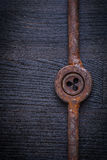 Vintage rusted tap holder and screw threading die Royalty Free Stock Photo