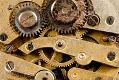 Vintage Rusted Watch Pocketwatch Time Piece Movement Gears Cogs Stock Image