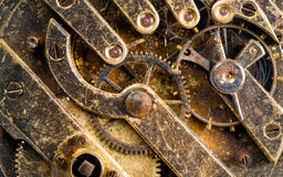 Vintage Rusted Watch Pocketwatch Time Piece Movement Gears Cogs Royalty Free Stock Photography