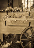 Vintage rustic cart Stock Image