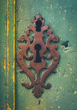 Vintage Rustic Keyhole Decoration. Vintage Ornamental Keyhole On A Rustic Old Door In Toulouse France