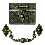 Vintage rustic lockand handle. Vintage rustic catch lock and handle stock images