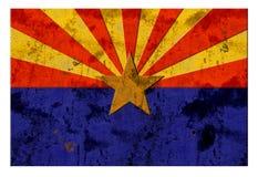 Vintage rustique grunge de Phoenix de drapeau de l'Arizona images stock