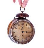 Vintage rusty alarm clock Royalty Free Stock Photography