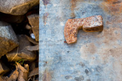 Vintage rusty axe Stock Photography