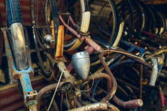 Vintage rusty bicycles Stock Image