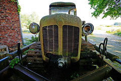 Vintage rusty bulldozer Royalty Free Stock Photo