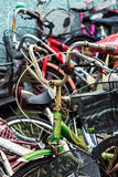Vintage Rusty Bycicle Royalty Free Stock Images