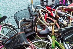 Vintage Rusty Bycicle Stock Photography