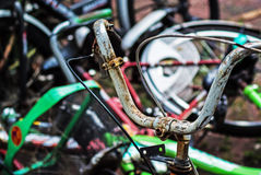 Vintage Rusty Bycicle Stock Images
