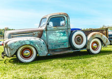 Vintage rusty car FORD. This image was taken on May 2013 Royalty Free Stock Images