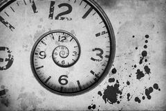 Vintage Rusty clock swirl Royalty Free Stock Photo