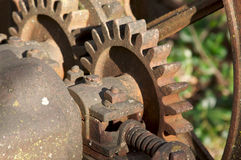 Vintage Rusty Farm Equipment Gears Stock Photos