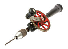 Vintage rusty hand drill Royalty Free Stock Photo