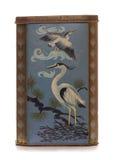 Vintage rusty heron bird themed tin Stock Photos