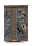 Vintage rusty heron bird themed tin Royalty Free Stock Image