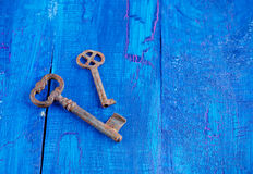 Vintage rusty key Royalty Free Stock Photo