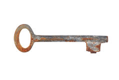 Vintage rusty key Stock Photography