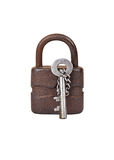 Vintage rusty lock and key Stock Photography