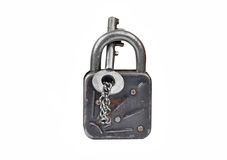Vintage rusty lock and key Royalty Free Stock Image