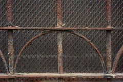 Vintage rusty metal grille Royalty Free Stock Photo
