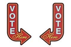 Free Vintage Rusty Metal Vote Here Arrow Sign. 3d Rendering Royalty Free Stock Image - 143162756