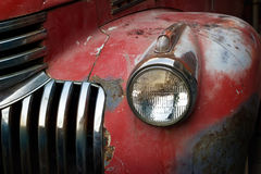 Free Vintage Rusty Red Truck Car With A New Headlight, Soft Focus Royalty Free Stock Photo - 55072455