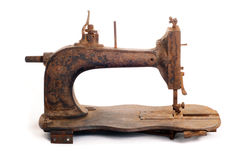 Vintage Rusty Sewing Machine Stock Photography