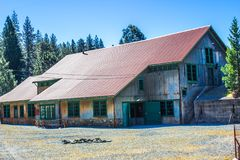 Vintage Tin Roof Building Once Used For Mining Operations. Vintage Rusty Tin Roof Building Once Used For Mining Operations Royalty Free Stock Image
