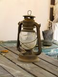 Vintage rusty vintage kerosene lamp royalty free stock images