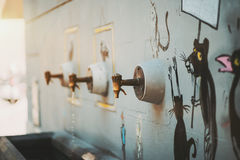 Vintage rusty water taps Royalty Free Stock Photography