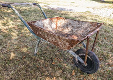 Vintage rusty wheelbarrow Stock Photography