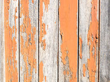 Vintage rusty wood background with orange paint Stock Photos