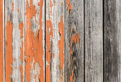 Vintage rusty wood background with orange paint Stock Photography