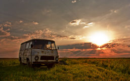 Vintage RV Stock Photo
