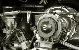Vintage RV engine Royalty Free Stock Photos