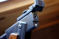 Vintage RWS Model 36 Pellet Rifle open breach royalty free stock photos