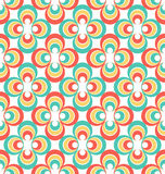 Vintage 80s abstract seamless pattern. Colorful Rosettes Royalty Free Stock Photo