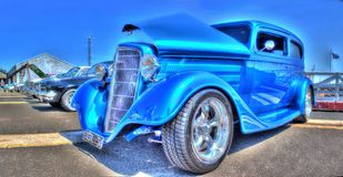 Vintage 1930s American Chevy. Vintage blue 1930s American made Chevy on display at a car show in Melbourne, Australia Stock Photography